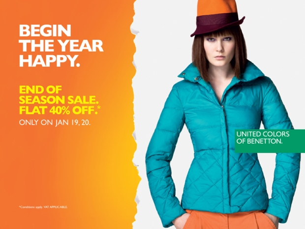 BENETTON End of Season Sale - Flat 40% off !!