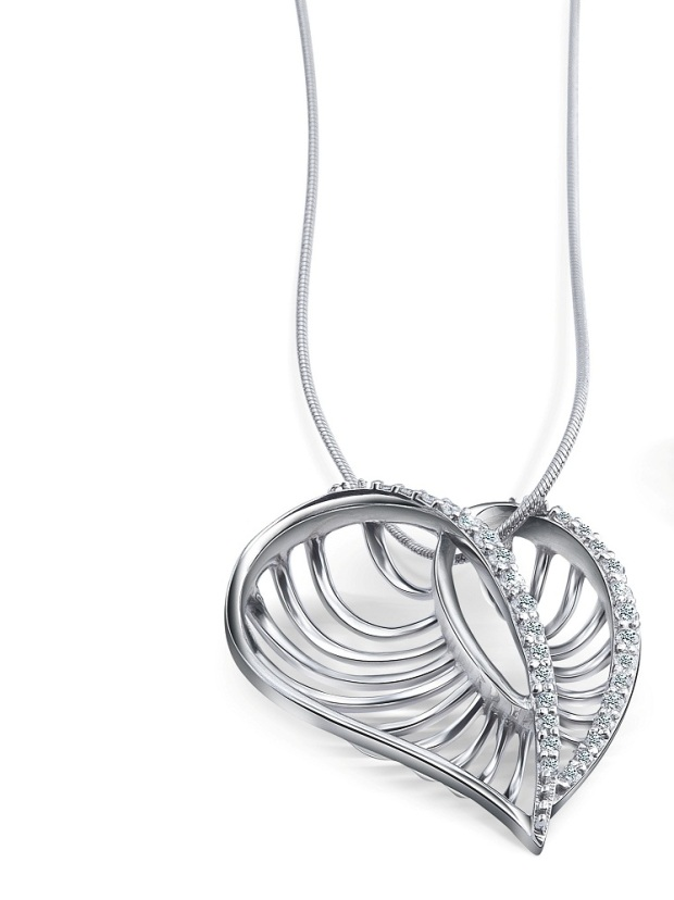 Heart Shaped Platinum Pendant