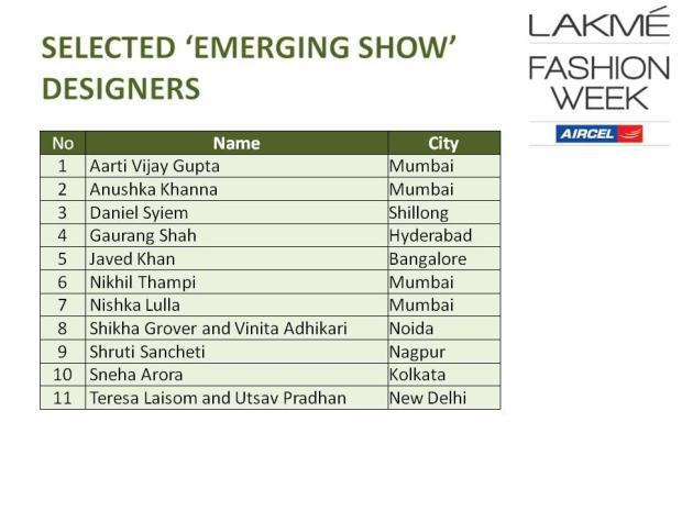LFW 2013 - Emerging Designers