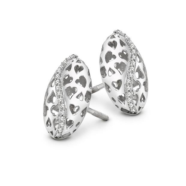 Platinum earrings for Valentine's Day