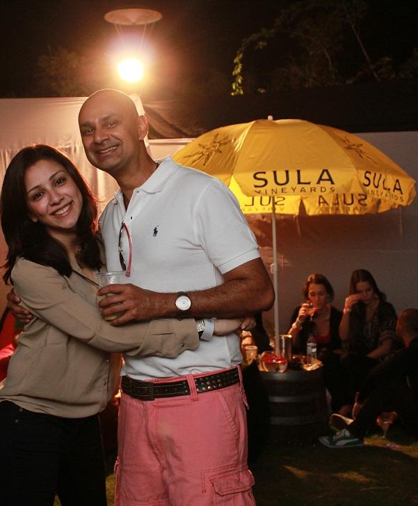 Amrita Puri_ Rajeev Samant, Founder & CEO at Sula Vineyards at SulaFest 2013