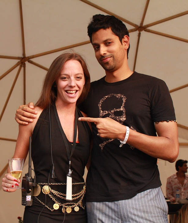 Cecilia Oldne, Global Brand Ambassador & Head - International Business along with Mukul Deora at SulaFest 2013
