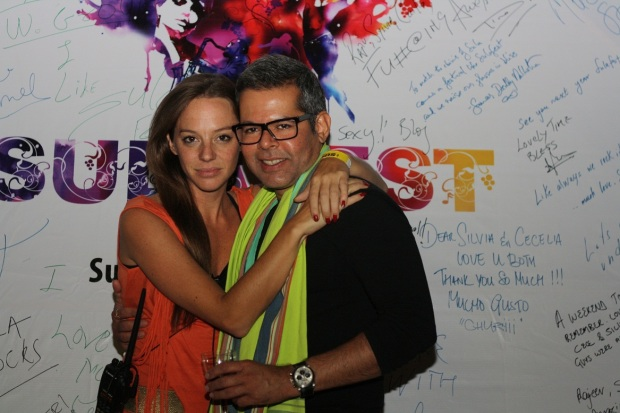 Cecilia Oldne, Global Brand Ambassador, Head - International Business with Vikram Raizada at SulaFest 2013