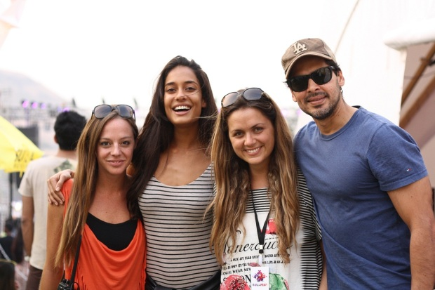Cecilia Oldne, Global Brand Ambassador, Head - International Business_ Lisa Haydon_ Chef Silvia Grimaldo, Vinoteca by Sula and Dino Morea at SulaFest 2013
