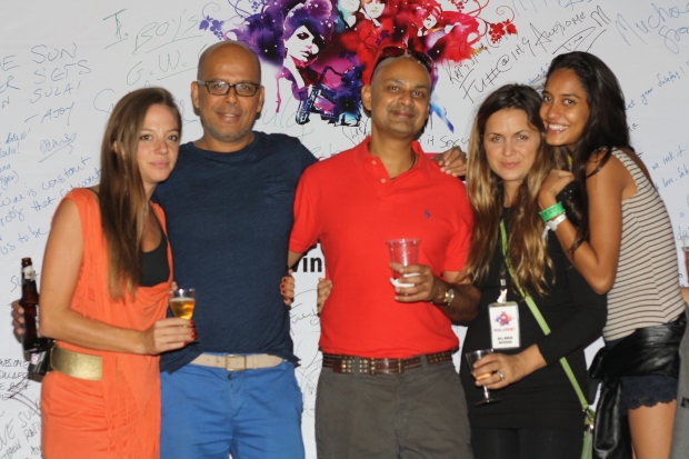 Cecilia Oldne, Global Brand Ambassador, High - International Business_ Narendra Kumar_ Rajeev Samant, Founder & CEO at Sula Vineyards_ Chef Silvia Grimaldo, Vinoteca by Sula and Lisa Haydon at SulaFest 2013