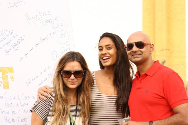 Chef Silvia Grimaldo, Vinoteca by Sula_ Lisa Haydon and Rajeev Samant, Founder & CEO, Sula Vineyards at SulaFest 2013