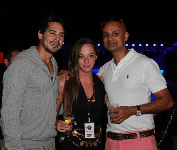 Dino Morea_ Cecilia Oldne_ Global Brand Ambassador & Head - International Business, Rajeev Samant, Founder & CEO, Sula Vineyards at SulaFest 2013