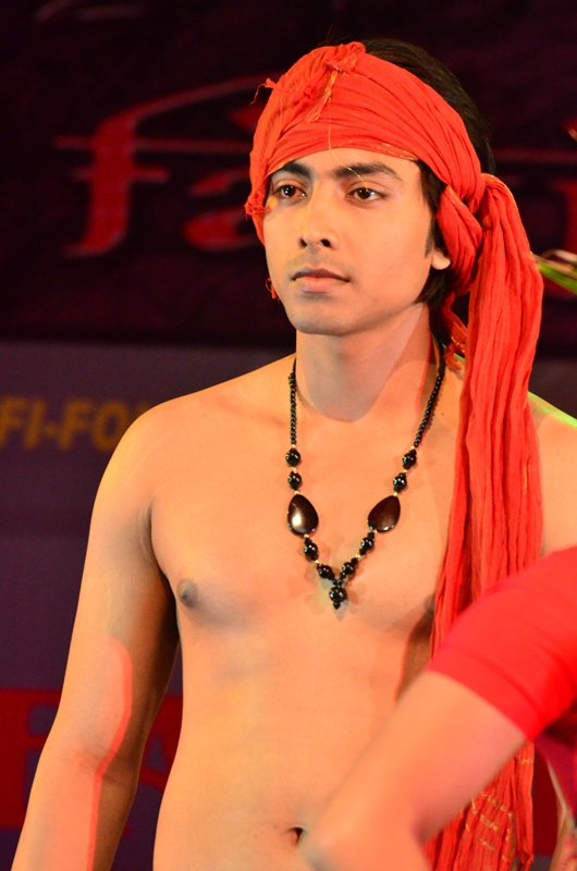 Model Pratik Mondal in Promit Mukherji's creations