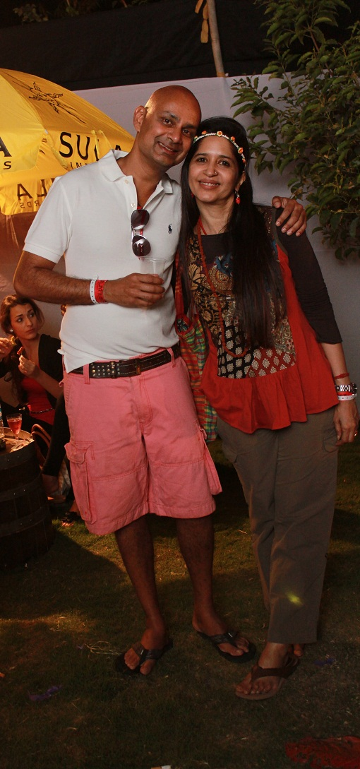 Rajeev Samant, Founder & CEO at Sula Vineyards along with Mitali Kakkar at SulaFest 2013