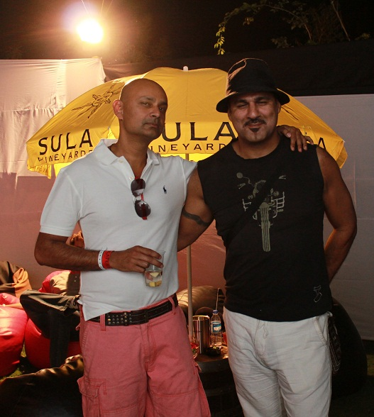 Rajeev Samant, Founder & CEO at Syla Vineyards and Sameer Malhotra at SulaFest 2013
