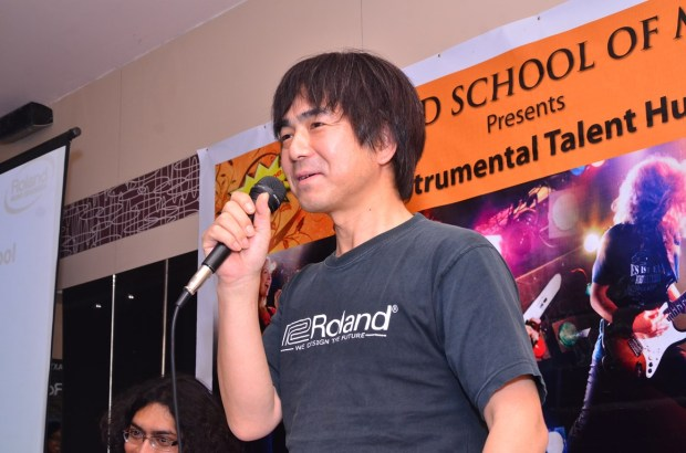 Mr. Shigeru Kimoto, Marketing Manager Roland Corporation Japan at the Press Meet and Launch of India's first Roland School of Music Japan at Happy Hours