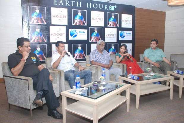 Participation in the Earth Hour 2013 by Sonnet Hotel and Media Connect -  with Rajib Roy Choudhury,Kalyan Choubey, Debashish Jana, Sudipta Chakroborty and Sujoy Chatterjee (from Left to Right) (Copy)