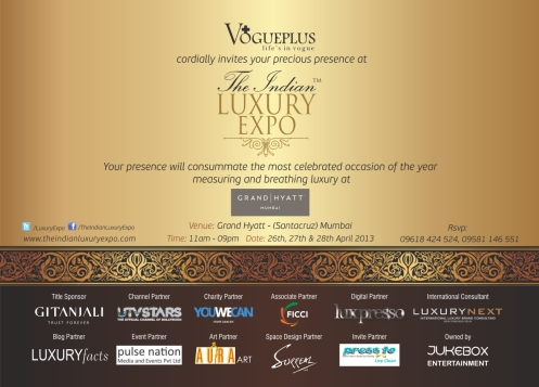 E-Invite - The Indian Luxury Expo 2013