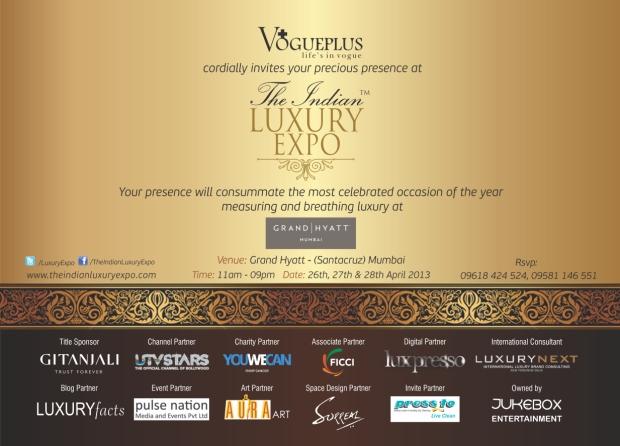 E-Invite - The Indian Luxury Expo 2013