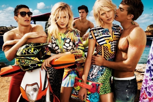 Just Cavalli's SS '13 campaign evokes the life, the colors, and the richness of the sea