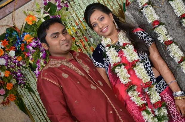 Nidhi and Sou at Nidhi's Engagement - SouBoy