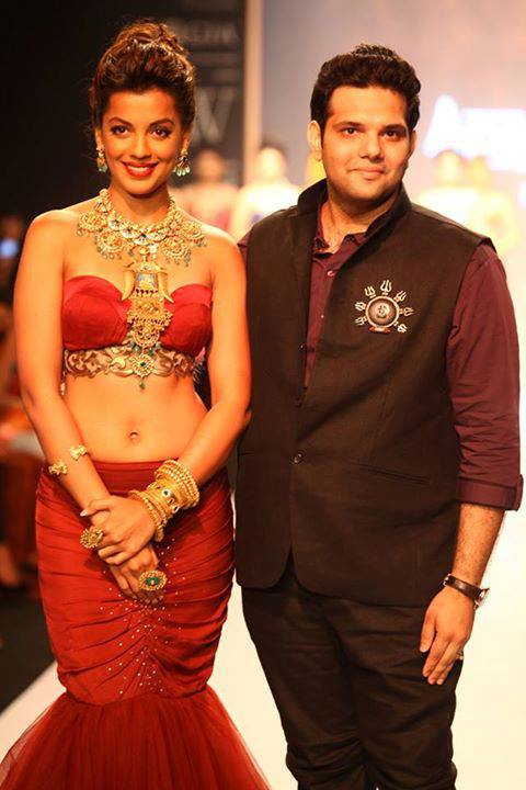 Sumit with Mugdha