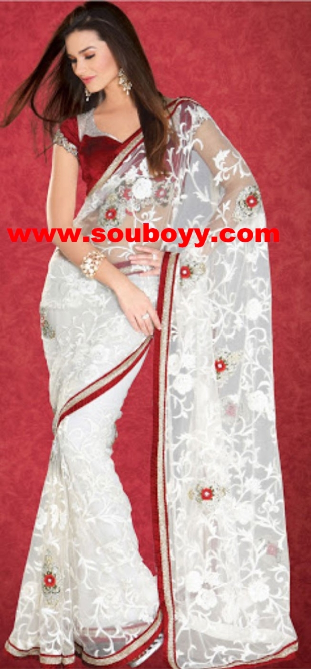 Reeva Online Sarees by Sou Boyy - Red Detailing