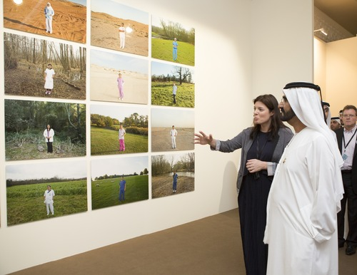 HH visits the Art Dubai - Paintings - SouBoyy