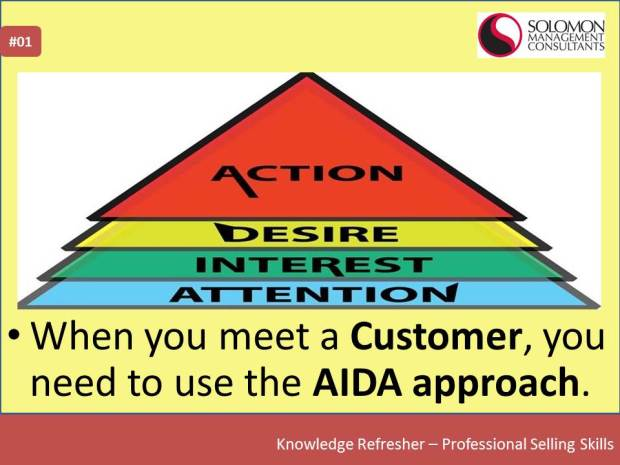 SMC's Knowledge Refresher - Professional Selling Skills - The AIDA approach