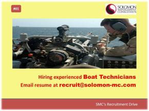 SMC's Recruitment Drive - Boat Technicians