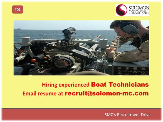 SMC's Recruitment Drive - Boat Technicians
