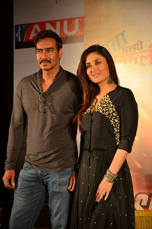 SouBoyy meets Ajay Devgan & Kareena Kapoor Khan during the promotions of the upcoming Bollywood movie ' Singham Returns ' at ITC Sonar Kolkata