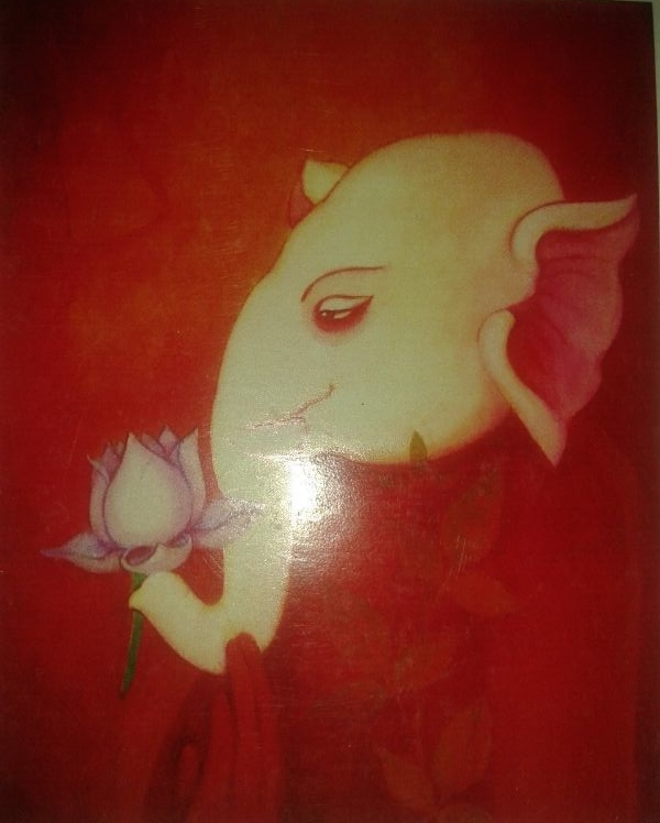 Aakar Paintings - Ganpati on Canvas
