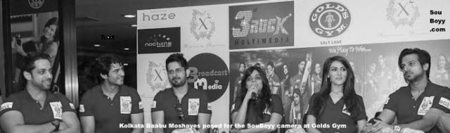 Kolkata Baabu Moshayes posed for the SouBoyy camera at Golds Gym SaltLake