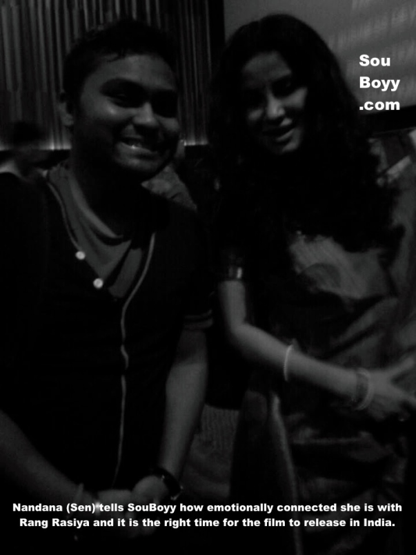 Nandana Sen chats with SouBoyy at Rang Rasiya's premiere at Kolkata 2