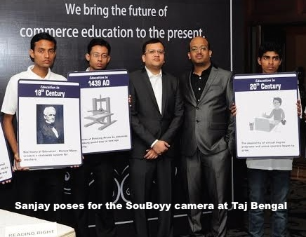 Sanjay poses for the SouBoyy camera at Taj Bengal 2