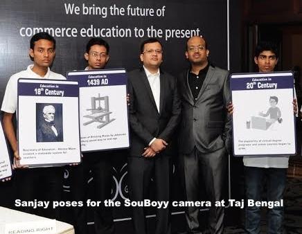 Sanjay poses for the SouBoyy camera at Taj Bengal 2