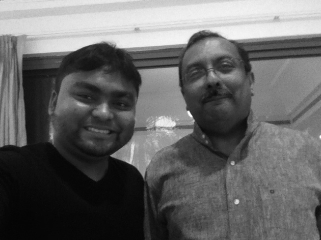 SouBoyy and TP Seetharam (HE Ambassador of India to the UAE) at his residence