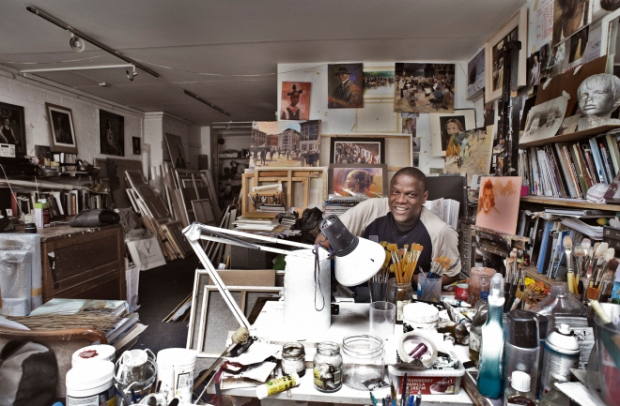 Adebanji Alade in his studio