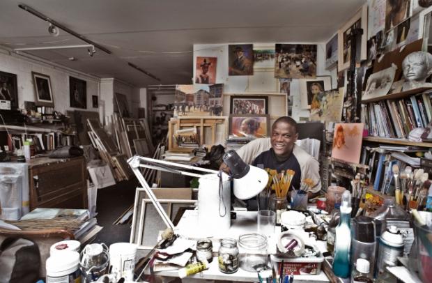 Adebanji Alade in his studio