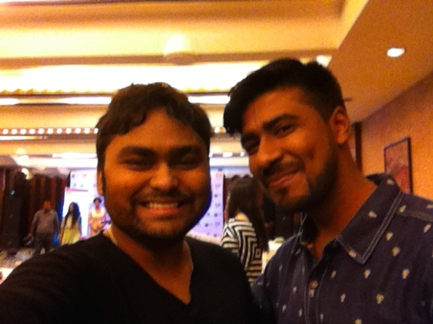 Sou and Rahul at Mr India Worldwide 2015 Auditions.jpg
