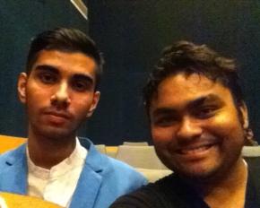 Sou and Rishav at Dialogues